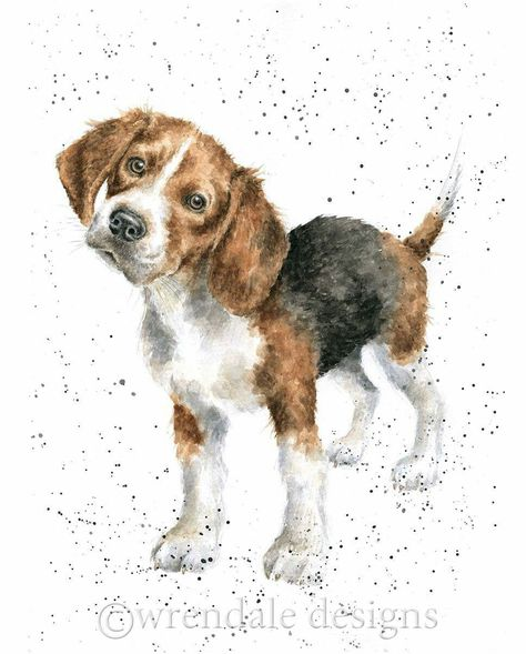 Wrendale Designs Hannah Dale Animal Paintings Dog Drawing