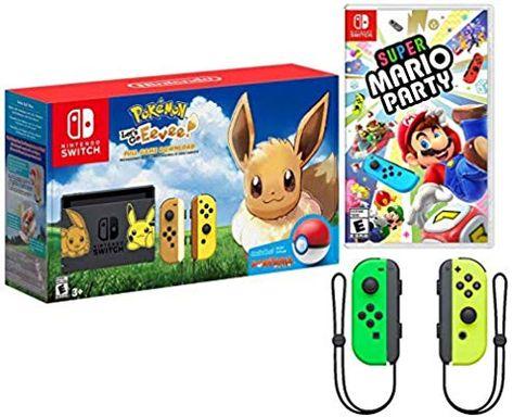 Amazon Com Nintendo Switch Pokemon And Mario Bundle Nintendo Switch Pokemon Let S Go Eevee Edition Bundle Super Mario Party Wit With Images Mario Party Super Mario Party