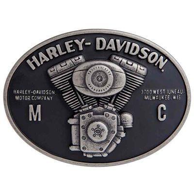Harley-Davidson Men/'s Fist Forward Belt Buckle Antique Nickel Finish HDMBU11417