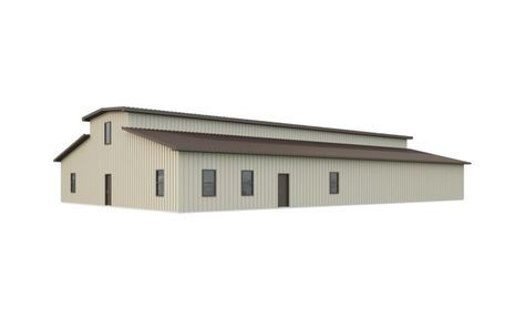 60x100 Barn Kit With Monitor Roof Quick Prices With Images Roof Architecture Barn Kits Corrugated Metal Roof