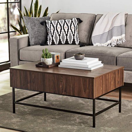 Mainstays Sumpter Park Coffee Table Canyon Walnut Cool Coffee