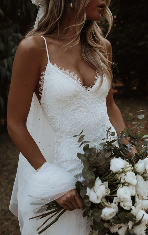 Grace Loves Lace, Dream Wedding Dresses, Bridal Dresses, Gown Wedding, Perfect Wedding Dress, Weeding Dresses, Bohemian Lace Wedding Dress, Wedding Rings, Lace Trumpet Wedding Dress