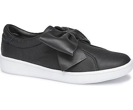 Ace Bow Leather Black Black Leather Sneakers Sneakers Black Keds