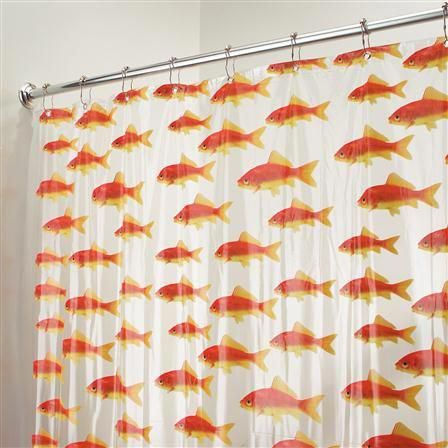 Interdesign Goldfish Shower Curtain Clea Interdesign Goldfish