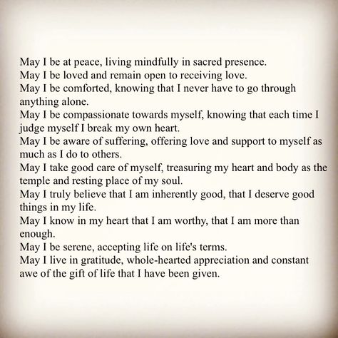 """Anya Lukianov Psychotherapy on Instagram: """"Loving Kindness Prayer (Metta) 🙏🏻 #staystrong #dontgiveup #lovetrumpshate #mindfulliving #selfcarethreads  #metta #worldpeace…"""""""