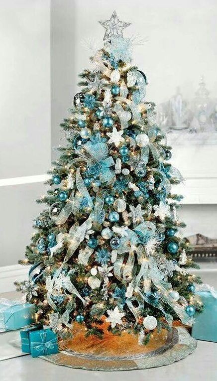 65 Christmas Tree Decoration Ideas And New Trends For 2019 2020 December Page 17 Of 65 Ladiesways Com Women Hairstyles Blog Turquoise Christmas Tree Teal Christmas Decorations Teal Christmas Tree