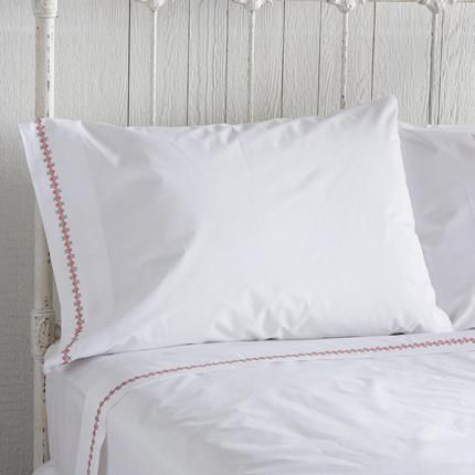 EMILY CROSS-STITCH PILLOWCASES, SET OF 2