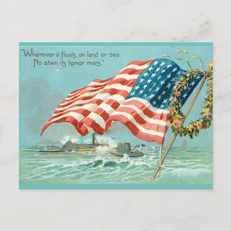 Freedom Smiles Postcard Zazzle Com In 2021 Patriotic Pictures Patriotic Art Memorial Day