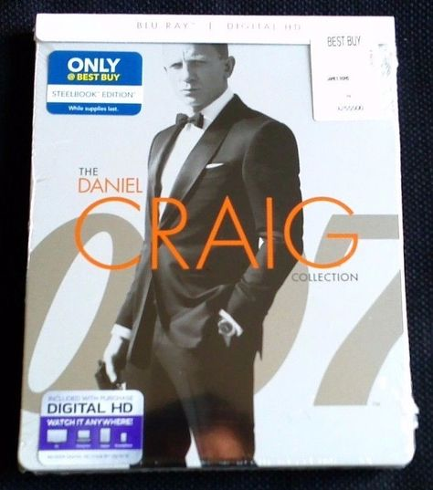 Daniel Craig James Bond Collection Blu Ray Steelbook 3 Movies