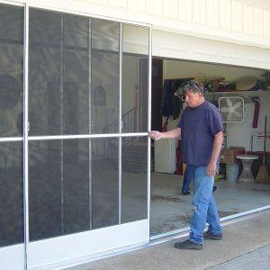 Sliding Screen Doors For Garage Door Opening With Images