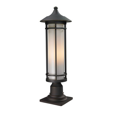 Z-Lite Classic Outdoor Pier Mount Light (Oil Rubbed Bronze), Brown (Aluminum)