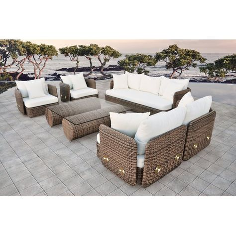 Novula 5 Piece Sofa Seating Group With Cushions Outdoor Sofa