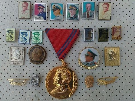 d05fe4fa7576 Josip Broz Tito Medal and pins SFRJ Yugoslavia Communist Vintage Pins  Badges Josip Broz Tito SFRJ Yugoslavia