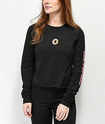 de493c19072f Odd Future Donut Black Crop Long Sleeve T-Shirt in 2019 | clothes ...