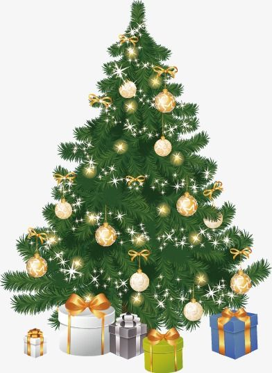 Vector Hand Painted Christmas Tree Tree Clipart Vector Realism Png Transparent Clipart Image And Psd File For Free Download Diy Christmas Paintings Christmas Art Christmas Tree Art