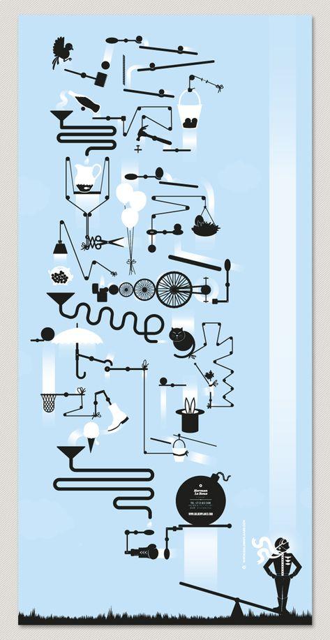rube goldberg graphic - Google Search