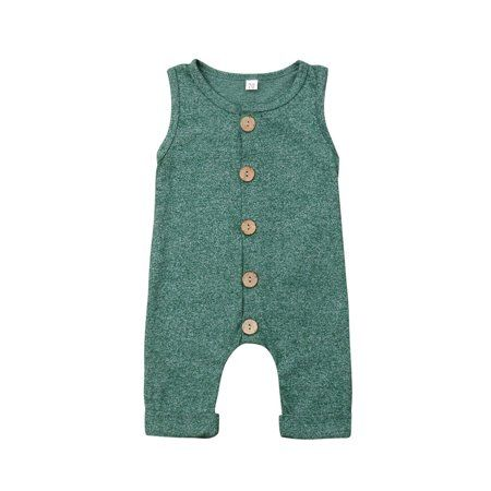Knitted baby romper Cotton mint blue /& natural wooden buttons