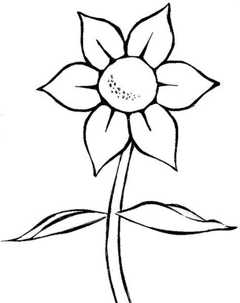 Desenho Simples De Flor Colorir Risco De Flor Desenho Flores