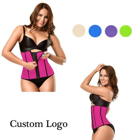 85eae81266e87 Private Label Plus Size 6 Steel Bones Women Waist Trainer Waist Sweat Belt  with Zipper