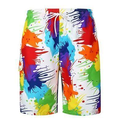 Glow Splash Pattern Mens Boardshorts Summer Casual Swimming Shorts