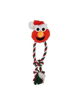 Pet Krewe Holiday Santa Elmo Rope Dog Chew Toy Dog Chew Toys