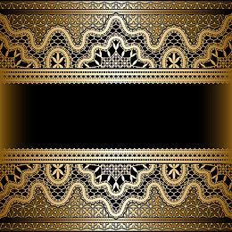Arabesque Art Gold Black Background Gold And Black Background Ornamental Vector Background Vintage