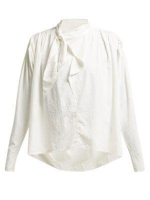 48414a7d Ugi tie-neck crepe blouse | Isabel Marant | MATCHESFASHION.COM | AW ...