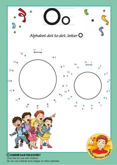 Alphabet Dot To Dot Letter O Kindergarten Expert Free Printable Alphabet Activities Preschool Alphabet Kindergarten Dot Letters Free printable letter o worksheets for