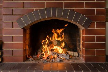 How To Paint Your Home And The Interior Brick Fireplace With
