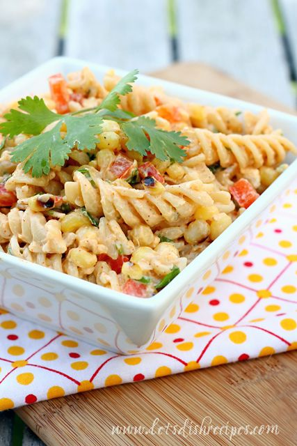 Mexican Pasta Salad - throw in a few crunchy veggies and a creamy dressing into the mix and you've got yourself a winning combination!