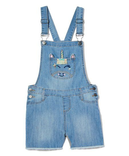 Freestyle Revolution Girls Unicorn Denim Shortalls
