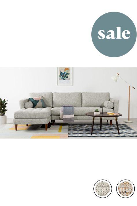 Made Grey Basketweave Sofa Corner Sofa Sofa Home Decor