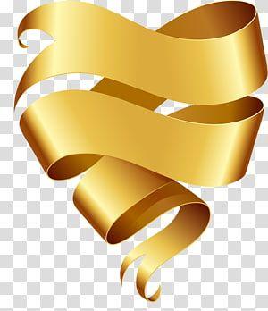 Gold Ribbon Ribbon Banner Yellow Ribbon Transparent Background Png Clipart Transparent Background Yellow Ribbon Ribbon Banner