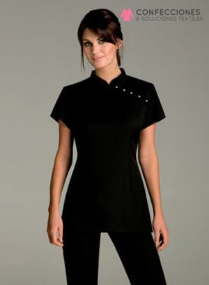287d3c4ed78 uniforme para chef mujer negro cstradha | chef | Uniformes estetica ...