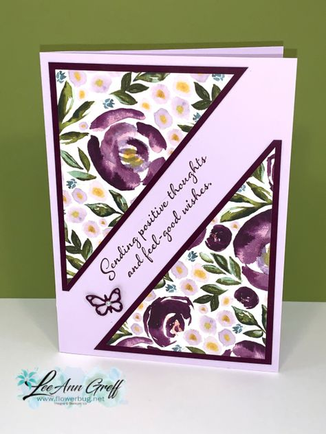 A new template for 6 X Designer paper - makes 3 fast, cute cards! - A new template for 6 X Designer paper – makes 3 fast, cute cards! Fun Fold Cards, Cute Cards, Easy Cards, Tarjetas Stampin Up, Stamping Up Cards, Get Well Cards, Pretty Cards, Card Sketches, Sympathy Cards