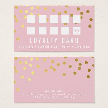 Reward Loyalty Card Glam Confetti Pretty Pink Gold Zazzle Com Loyalty Card Loyalty Card Design Manicurist Business Cards