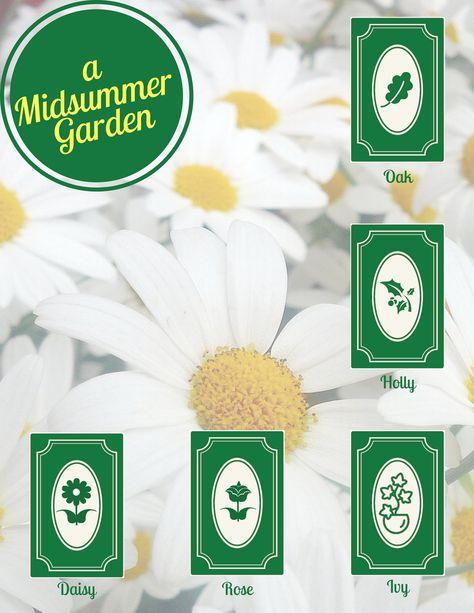 Litha Tarot Spread: A Midsummer Garden - Summer Solstice - Card Layout - Trees - Plants - Flowers - Growth #trees #growth #plants #Midsummer #TarotSpread #CardLayout #SummerSolstice #flowers #garden #Litha