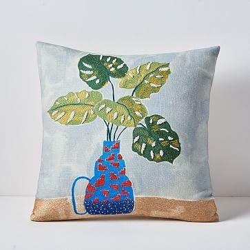 Tropical Arrangement Pillow Cover Garden Pillows Pillows Pillow Covers