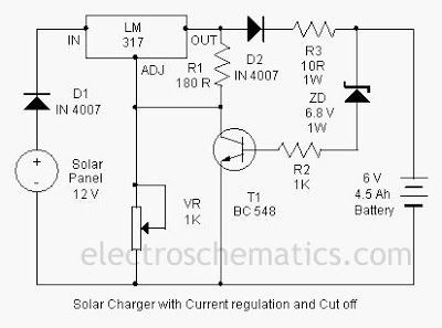 Solar Charger Circuit By Lm317 Solar Charger Solar Circuit Diagram