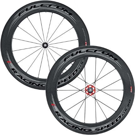 Fulcrum Racing Speed Xlr 80 Dark Label 700c Carbon Tubular Racing Racing Cyclist Road Bike Wheels
