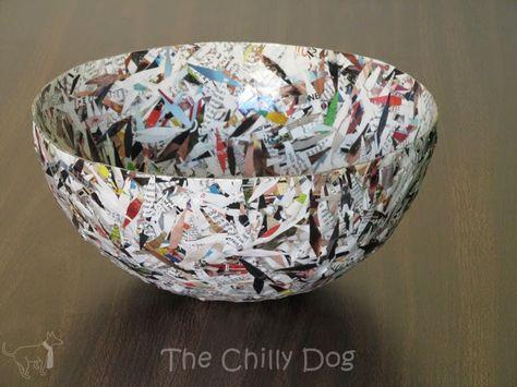 Craft Challenge Tutorial Paper Bowl To Teach Sculpture