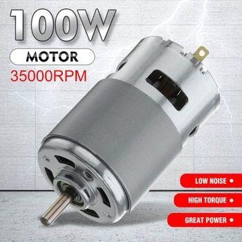 Hot 775 Dc Motor Max 35000 Rpm Dc 12v 24v Ball Bearing Large Torque High Power Low Noise Gear Motor Electroni Electronics Components Noise Consumer Electronics