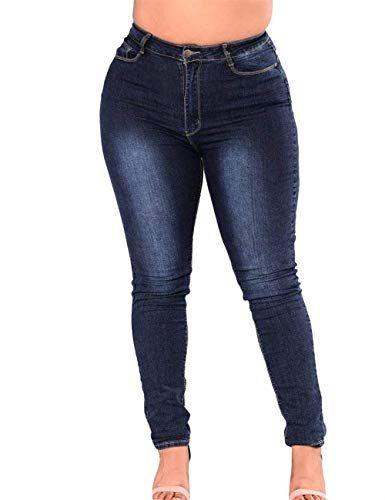Haidean Pantalones De Mezclilla De Alta Cintura Elasticidad De Para Modernas Cas Pantalones Para Gorditas Pantalones De Mezclilla Mujer Pantalones De Mezclilla