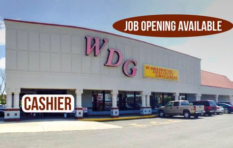 Job Opening Available Cashier Location Warehouse Discount