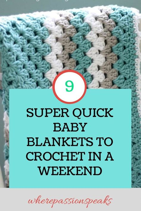 35+ Awesome Photo of Quick Crochet Patterns Quick Crochet Patterns 9 Quick Easy Free Beginner Friendly Ba Blanket Patterns To  #EasyCrochetPattern
