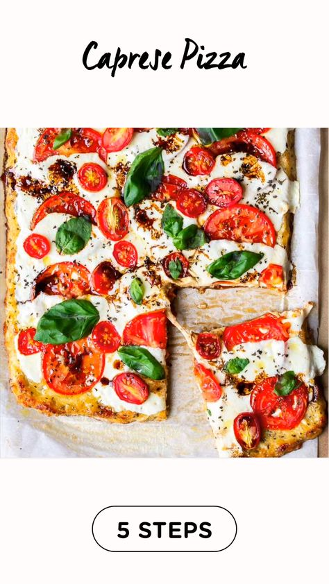 Caprese Pizza (keto & gluten free friendly)