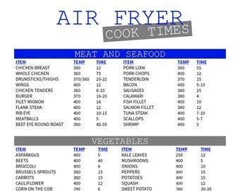 Ninja Foodi Cook Times Printable Etsy In 2020 Cooks Air Fryer Air Fryer Cooking Times Air Fryer