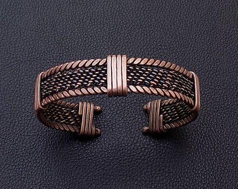 Adjustable men copper bangle bracelet,Braided men Bracelet,Men Bracelet,Men accessory,Viking Bangle Bracelet,Men Cuff Bracelet,Free Shipping