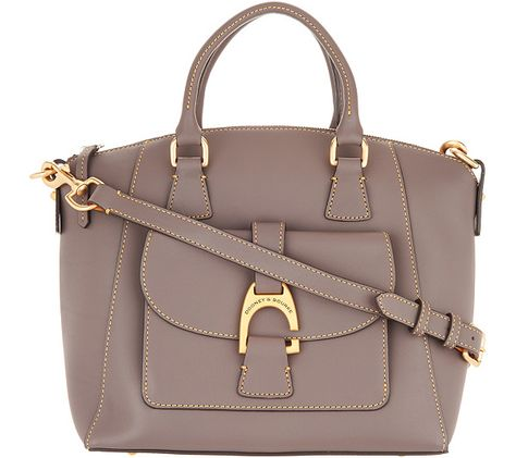 b0089f97144 Dooney   Bourke Emerson Leather Satchel Handbag- Naomi - Page 1 — QVC.com