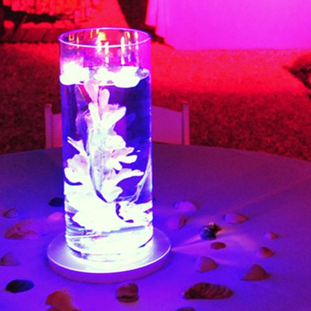 Led Centerpiece Lighting Cost Effective Easy Wedding Lighting